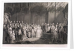 Queen Victoria and Prince Albert's marriage in St James's Palace, London by Anonymous
