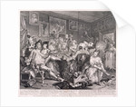 A Rake's Progress, plate III of VIII by William Hogarth