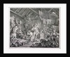 Strolling actresses dressing in a barn by William Hogarth