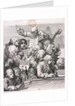 A chorus of singers by William Hogarth