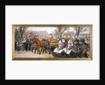Royal procession of the carriage of the Prince and Princess of Wales, London by Sir John Gilbert