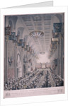 Banquet for Queen Victoria at the Guildhall, London by RG Reeve