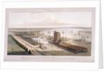 Brunswick Dock, and East India Dock, Poplar, London by William Daniell