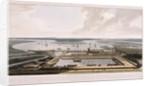East India Docks, Poplar, London by William Daniell