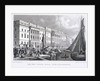 View of Custom House from Billingsgate, London by William Tombleson
