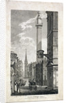 Fish Street Hill and the Monument, London by Robert Cabbel Roffe