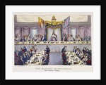 Queen Victoria at the Guildhall banquet, London by W Lake