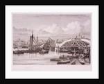 London Bridge (new), London by Edward William Cooke