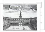 Royal Exchange (1st) interior, London by George Vertue
