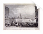 View of Smithfield Market from the Barrs, London by Thomas Barber