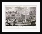 View of the horse fair at Smithfield Market, London by Charles Pye