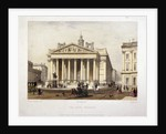View of the Royal Exchange's west front, London by Charles Claude Bachelier