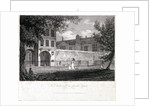 View of Charterhouse from the square with figures, Finsbury, London by