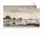 View of Hammersmith with water craft on the River Thames, Hammersmith by John Boydell