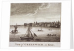 View of Greenwich with boats on the River Thames in the foreground, London by Anonymous