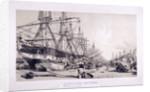West India Docks, Poplar, London by William Parrott