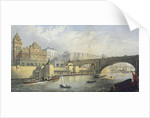 Thames Embankment - Steam Boat Landing Pier at Waterloo, London by RM Bryson