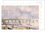 Waterloo Bridge, looking towards the City, London by G Chaumont