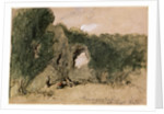 Pevensey Castle, East Sussex by Sir John Gilbert