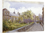View of the Staple Inn and garden, London by John Crowther