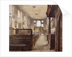 Interior of St Olave Jewry, London by John Crowther