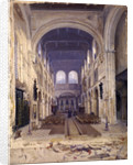 Interior of St Bartholomew's Priory, London by John Crowther