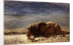 The king drinks by Briton Riviere