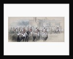 Mounted Escort at St James's Palace, London by Sir John Gilbert