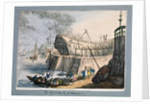 Brunswick Dock, Blackwall, London by Thomas Rowlandson