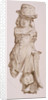 Carved figure in oak by