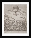 View of James Sadler's balloon over Mermaid Gardens, Hackney, London by Anonymous
