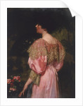 The Rose-Coloured Gown (Miss Giles) by Charles HM Kerr