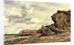 Triassic Cliffs, Blue Anchor, North Somerset by Edward William Cooke
