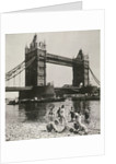 View of the west side of Tower Bridge, London by Anonymous