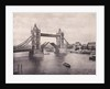 View of the east side of Tower Bridge, Stepney, London by Anonymous