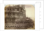 Holborn Viaduct under construction, Holborn, London by Henry Dixon