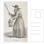 Watchman, (c1640?), Cries of London, (c1819?) by John Thomas Smith