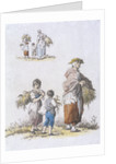 Women and  children gleaning, Provincial Characters by William Henry Pyne