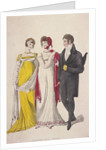 Two women and a man wearing full evening dress by W Read