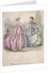 Two women and a child wearing the latest fashions by