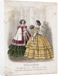 Two women wearing the latest fashions by Anonymous