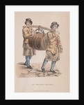 Two ale brewer's draymen carrying a barrel between them by Anonymous