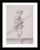 Figure in military clothing holding a musket and wearing a sword by Anonymous