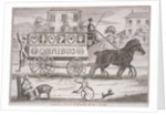 Shillibeer's first omnibus drawn by three horses, London by Anonymous
