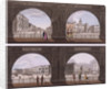 Four views of London sites seen through an arch by Anonymous