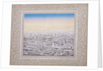 Aerial view of London with decorative border by Kronheim & Co