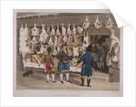 London Market'; a butchers shop by