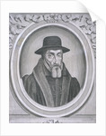 Oval portrait of John Foxe, c1570 by