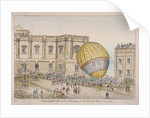 Hot air balloon in the courtyard of Burlington House, Piccadilly, Westminster, London by