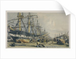View of West India Docks from the south east by William Parrott